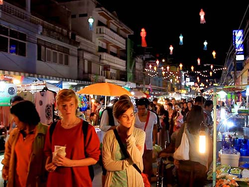 Chiang Rai Weekend Street Market.