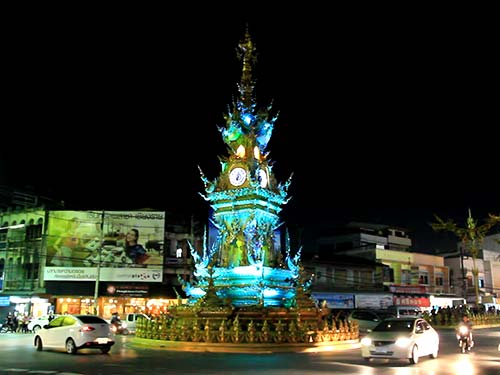 Clock Square in Chiang Rai.