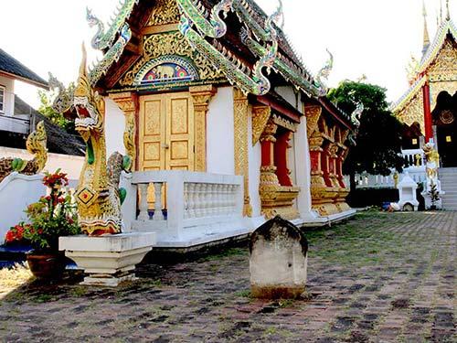 Ubosot, Buddhist temple, Chiang Mai.