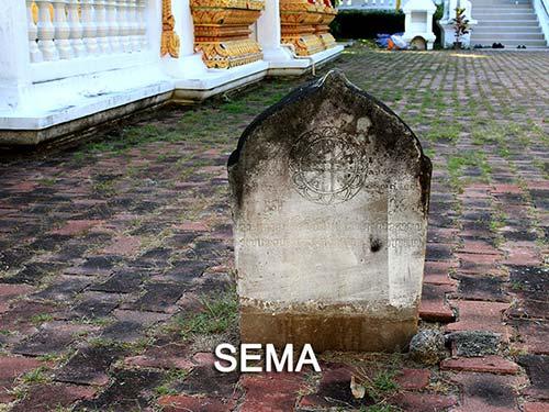 Bai Sema next to the ubosot.