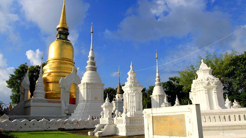 Stupas in Wat Suan Dok, Chiang Mai.