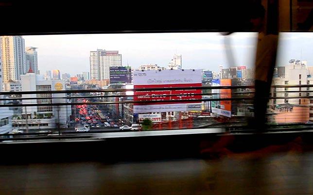 Skytrain in Bangkok.