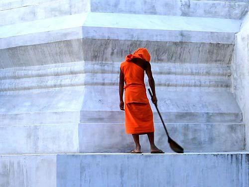 Buddhist monk in Mae Hong Son.