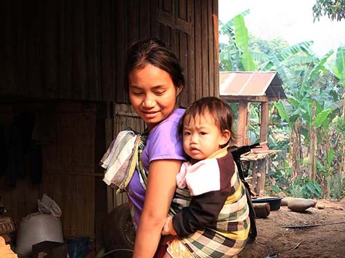 Mother and son, Karen tribe.