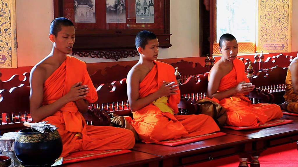 Monks praying.