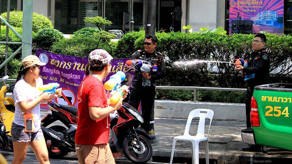 Songkran, Bangkok.