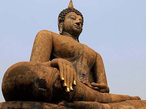 Buddha statue in Sukhothai.