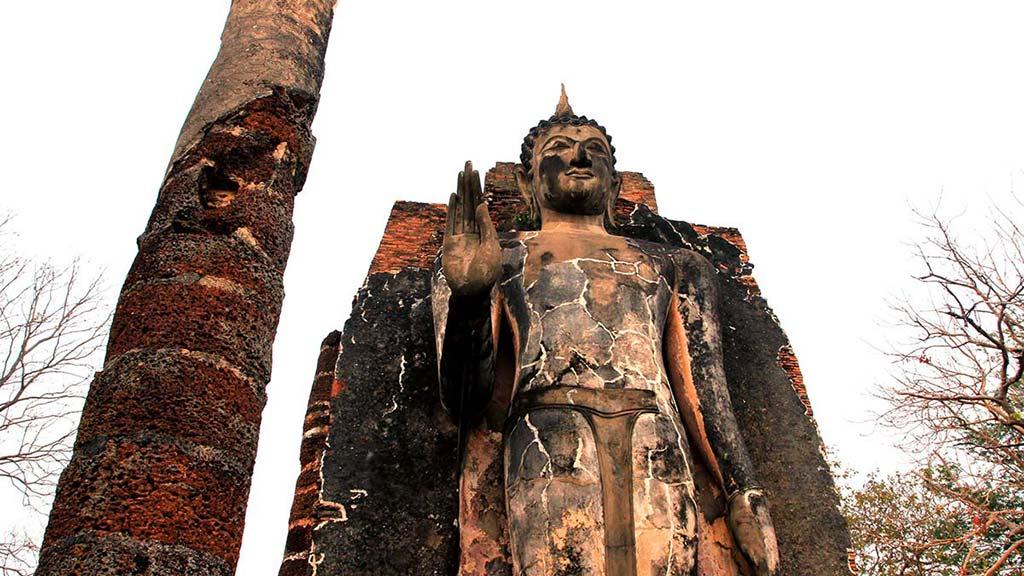 Wat Saphan Hin, Sukhothai.