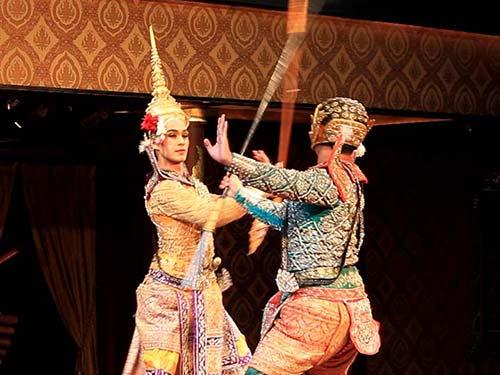 Ramakien scene, Sala Rim Naam, Bangkok.