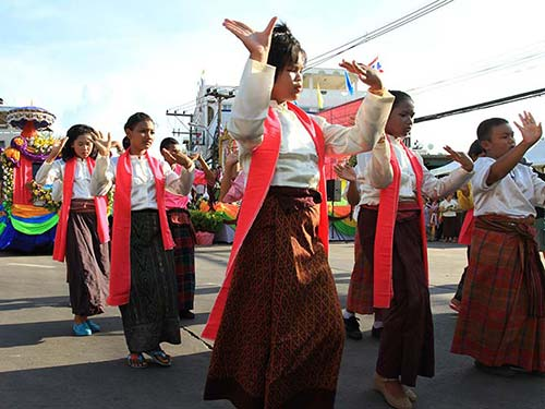 Dance show during a parade.