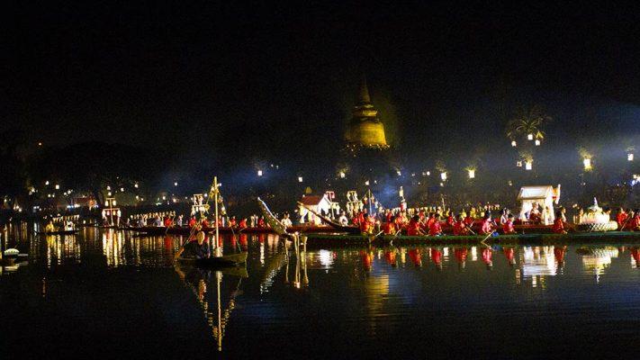 Loi Krathong, Sukhothai.